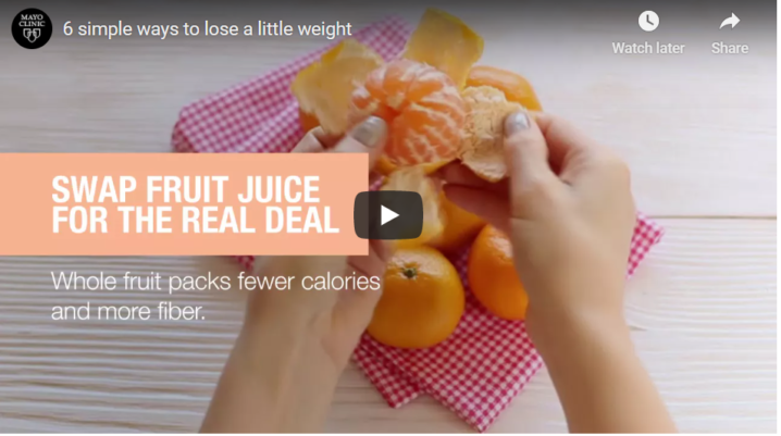6 simple ways to lose a little weight
